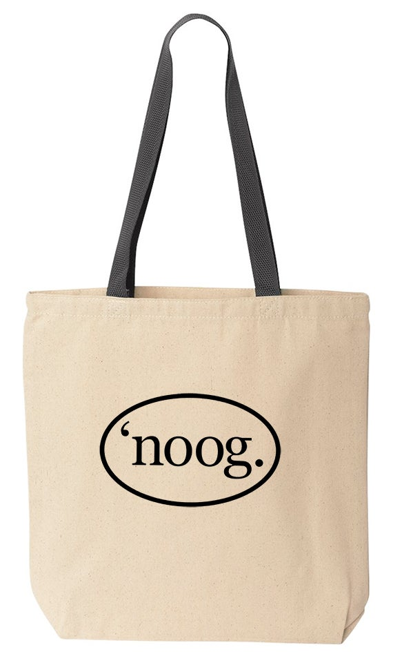 Noog Oval Canvas Tote Bag