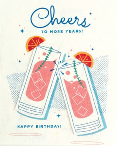 Craft Cocktail Birthday Greeting Card