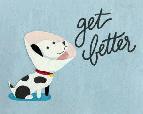 Get Better Dog Greeting Card