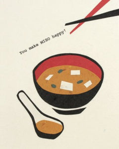 You Make Miso Happy Greeting Card