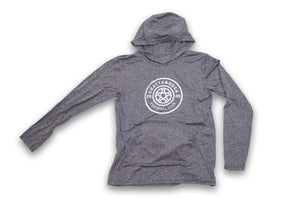 Antiqued Logo Performance Hooded Shirt (Gray)