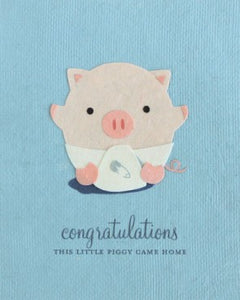 Little Piggy Congrats Greeting Card