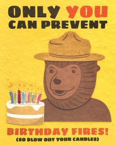 Smokey Bear Birthday Greeting Card