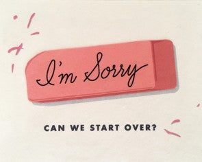 Sorry Eraser Greeting Card