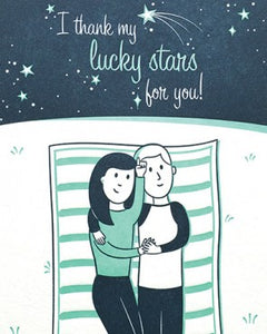 Lucky Stars Love Greeting Card