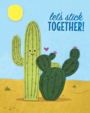 Let's Stick Together Greeting Card