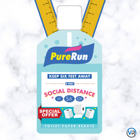 "Image of Social Distance 1K/5K/10K - Big 5"" Medal - VirtualRun"