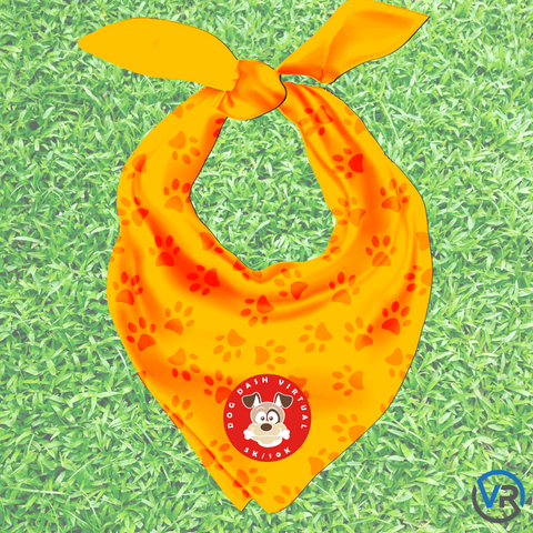 Dog Dash Virtual Run bandana/scarf by itself