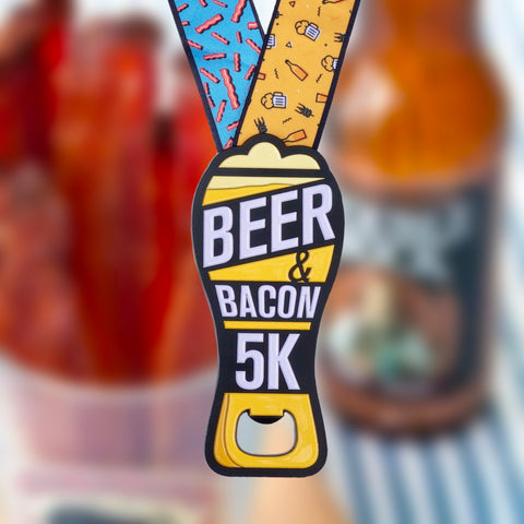 "Image of Beer & Bacon 5K Bottle Opener Medal - Limited Edition [6"" Medal]"