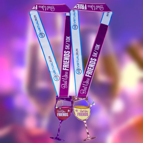 Best Wine Friends 5K/10K - Medal Set For TWO!