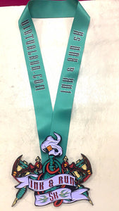 ink and run virtual 5k run heavy medal tattoo ribbon finisher