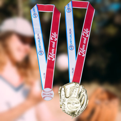 Mom and Me 1K/5K/10K - Two Medal Set