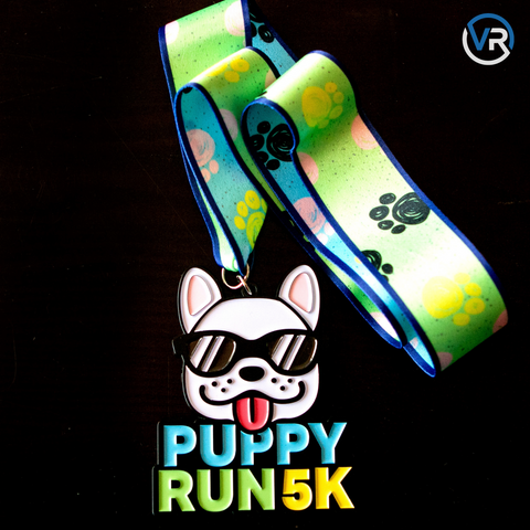 Image of Puppy Run 5K Medal - Limited Edition - VirtualRun