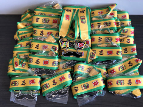 cinco de mayo 5k virtual run heavy finishers medal sold out sunglasses mustache bulk