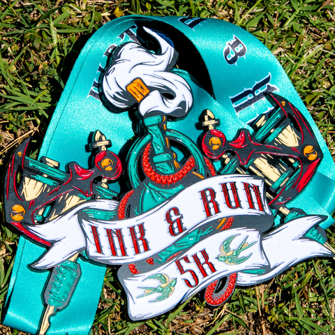 "Image of Ink & Run 5K - Limited Edition [6"" Medal] - VirtualRun"