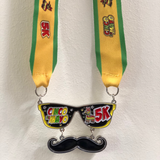 cinco de mayo 5k virtual run heavy finishers medal sold out sunglasses moustache