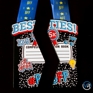 Besties 5K - Medals Set For TWO! - VirtualRun