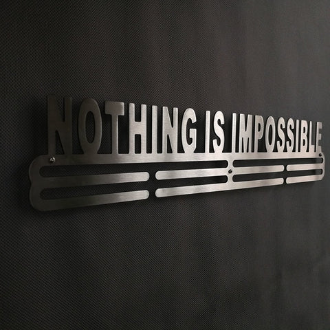 Nothing Is Impossible Medal Display Rack
