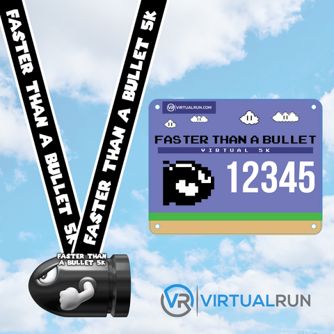 Faster Than A Bullet 5K - Video Game Series - VirtualRun
