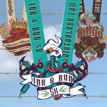Three medals in front of barbed wire for Virtual Run Tattoo Ink Package