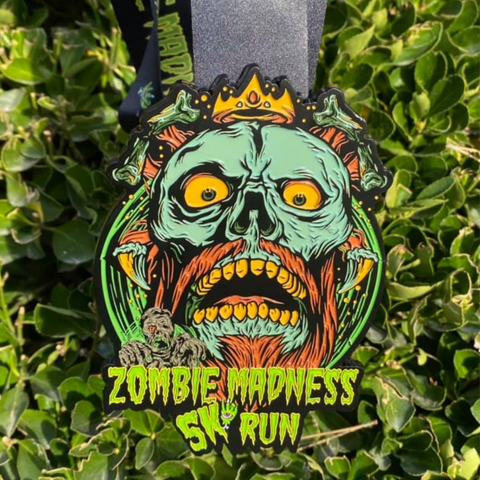 "Zombie Madness 5K - Limited Edition [6"" Medal] - VirtualRun"