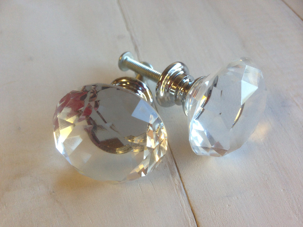 Crystal Door Knob (Clear - 3cm - Each)