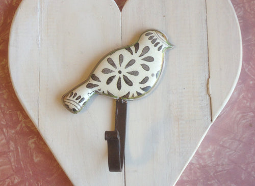 Metal Coat Hook (White & Grey - Each)