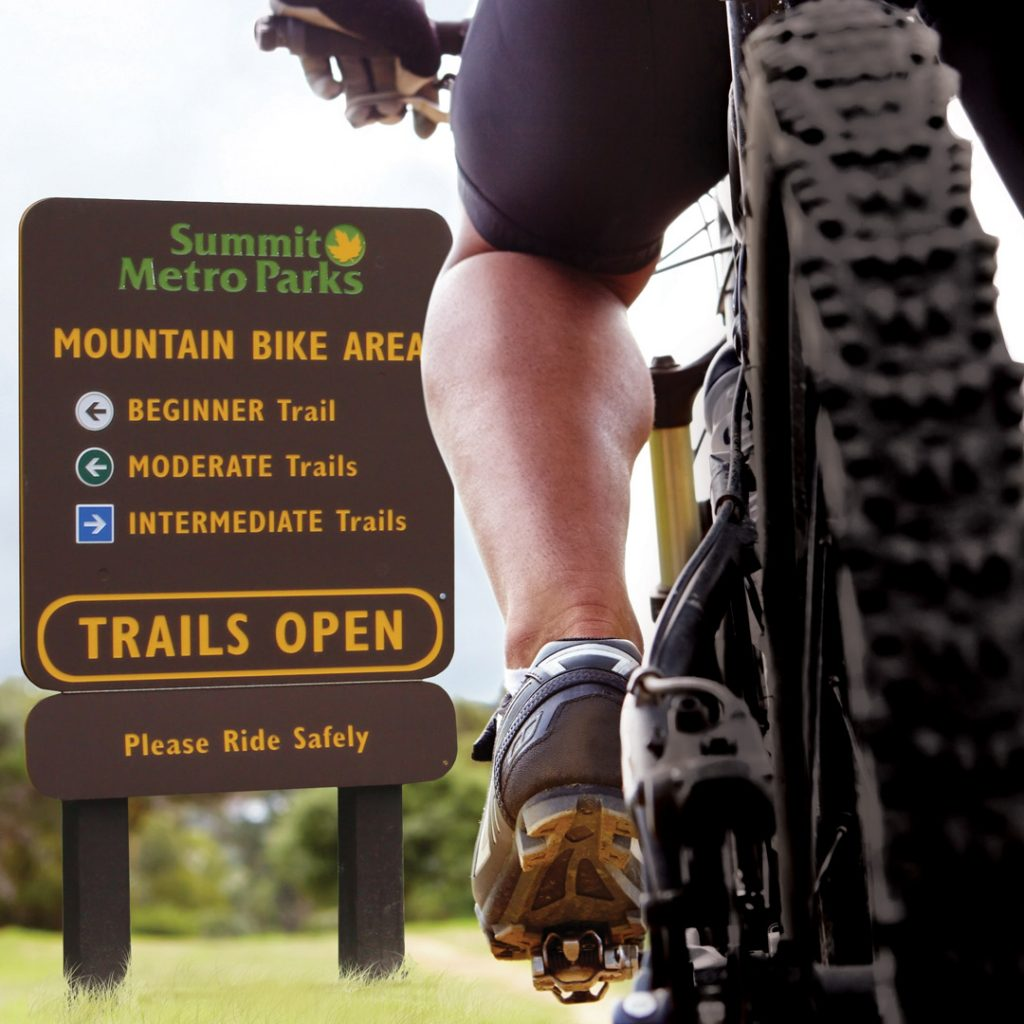 King Color Core Biking Trail Sign | AdVision Signs - Pittsburgh, PA