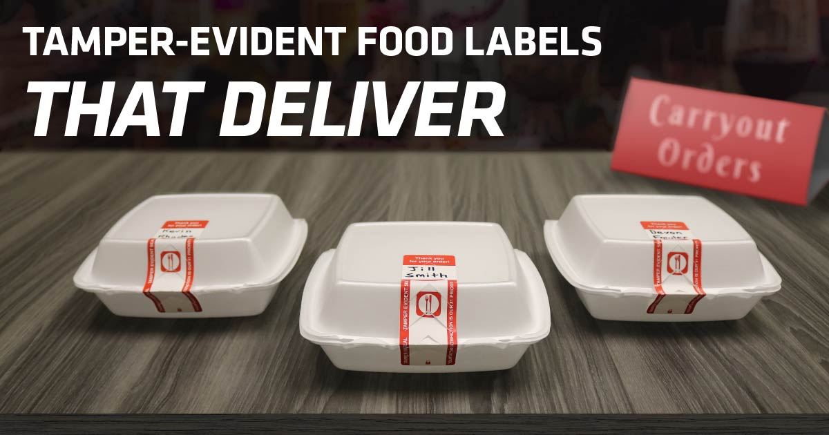 Tamper-Evident Food Labels, Delivery Food Labels, Carryout Food Labels | AdVision Signs - Pittsburgh, PA