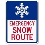 "12""x18"" EMERGENCY SNOW ROUTE Reflective sign"