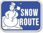 "12""x9"" SNOW ROUTE Reflective sign"
