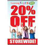 """20% Off Storewide"" Signs for Learning Express"