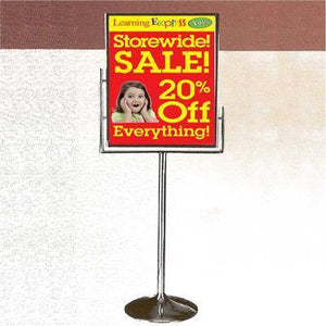"Chrome 22"" x 28"" Floor Sign Holder"