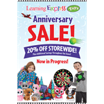 """Anniversary Sale"" Sign for Learning Express"