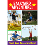 """Backyard Adventure"" Sign for Learning Express"