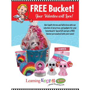 Free Valentine's Day Bucket Sign for Learning Express | AdVision Signs - Pittsburgh, PA