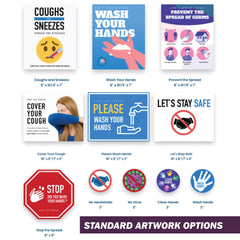 COVID-19 Health & Hygiene Decals | AdVision Signs - Pittsburgh, PA