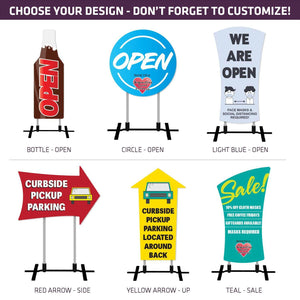 COVID-19 Contour Cut Signs Kit - Standard Designs - AdVision Signs