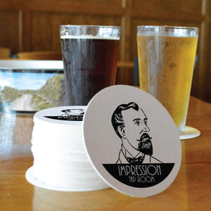 Custom Printed Paperboard Coasters - AdVision Signs