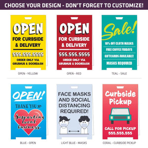 "Coroplast COVID-19 A-Frames - 23"" x 35"" - Standard Designs - AdVision Signs"
