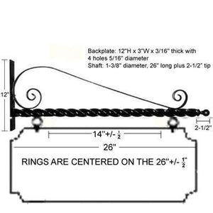 "24"" Deluxe Scroll Bracket Kit"