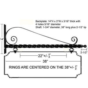 "36"" Deluxe Scroll Bracket Kit"