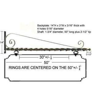 "48"" Deluxe Scroll Bracket Kit"