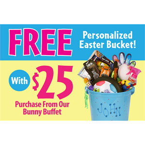 """FREE Personalized Easter Bucket"" Sign for Learning Express"
