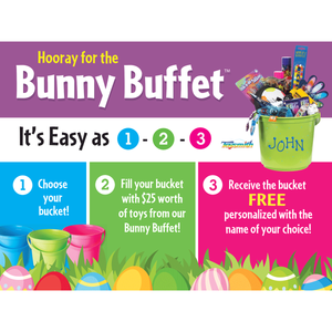 """Hooray for the Bunny Buffet"" Horizontal Signs for Learning Express - AdVision Signs"