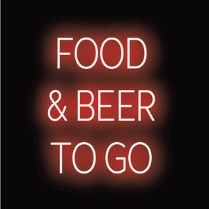 """FOOD & BEER TO-GO"" LED ""Neon"" by SpellBrite 