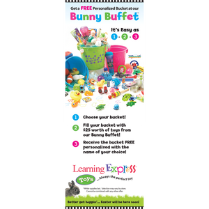 Large Bunny Buffet Banner for Learning Express - AdVision Signs