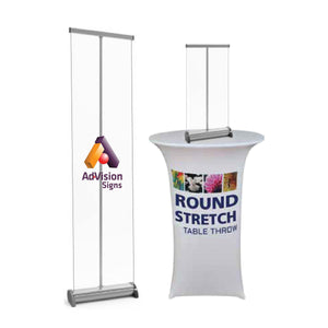 Mini Retractable Banner Sneeze Guards - AdVision Signs