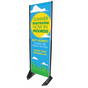 "Outdoor Anchored 13.5"" Wide Banner Frame"