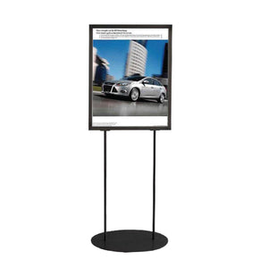 Oval Based Poster Stand Frame | Vista Systems